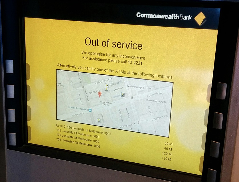 Commonwealth Out of Service