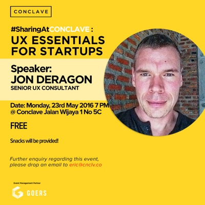 UX Essentials for Startups at Conclave Promotion