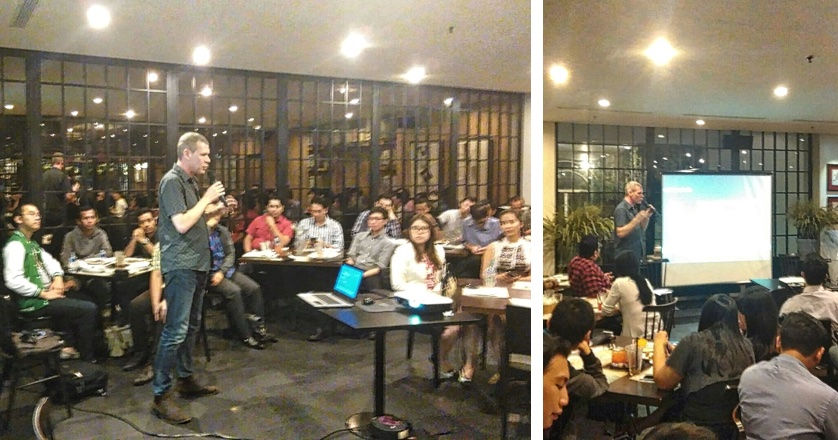 UX Essentials for Startups at LiveLife Talks Presenting